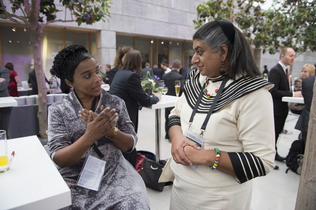 Rehana and Deputy Minister of Transport Chikunga at the International Transport Forum in Leipzig, May 2015.